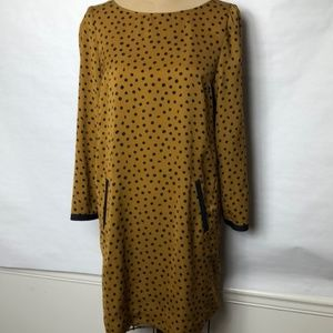 Zara dot print shift dress with pockets S